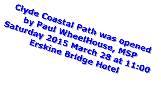 Clyde Coastal Path was opened
